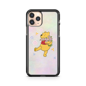 winnie the pooh flowers iphone case