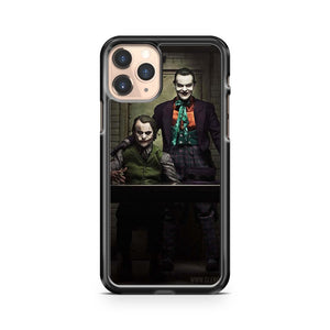 Jack Nicholson And Heath Ledger As The Jokers iphone case