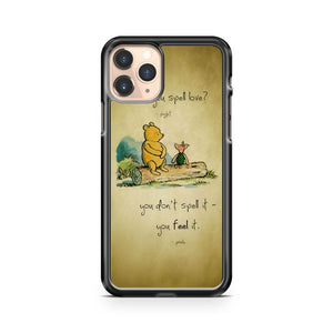 Disney Winnie The Pooh Spell Quote iphone case
