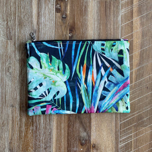 Bright Palm Clutch