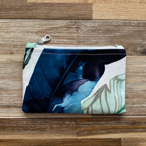 Blue Leaf Coin Purse