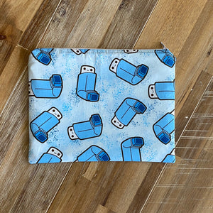 Medium Blue Asthma Puffer Pouch