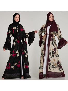 Robe Marocaine<br>originale fleurie freeshipping - Robe-marocaine.fr