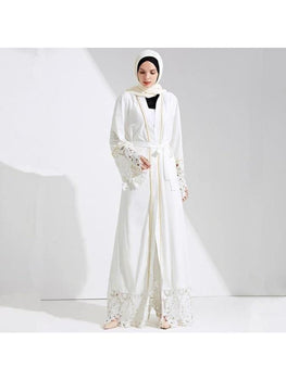 Robe Marocaine<br>blanche simple freeshipping - Robe-marocaine.fr