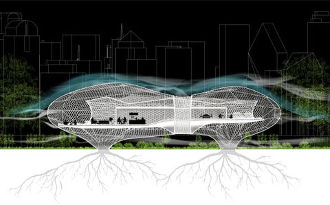 Pulmo Futuristic House with roots