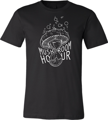 Mushroom Hourglass T-Shirt - Black and White