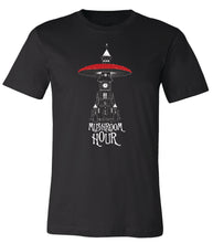 Load image into Gallery viewer, Mushroom Clocktower T-Shirt - Black, White & Red