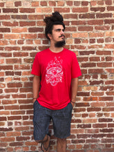 Load image into Gallery viewer, Mushroom Hourglass T-Shirt - Red and White
