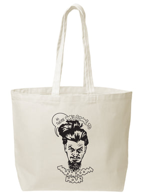Marvel-ous Mushroom Hour Canvas Tote - Black