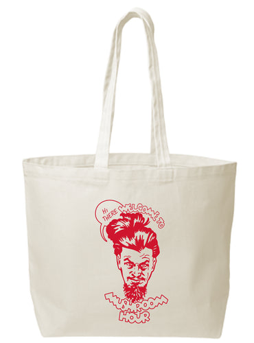Marvel-ous Mushroom Hour Canvas Tote - Red