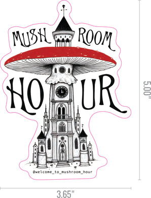 Mushroom Clocktower Stickers - White