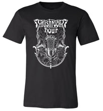 Load image into Gallery viewer, Mushroom Hour Podcast T-Shirt - Black & White