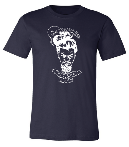 Marvel-ous Mushroom Hour T-Shirt - Navy and White
