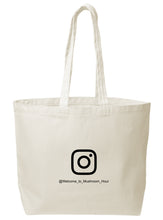 Load image into Gallery viewer, Mushroom Clocktower Canvas Tote - Black