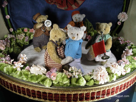 (9) C3 Miniature tableau. Bears' Wedding. Elizabeth Leggat