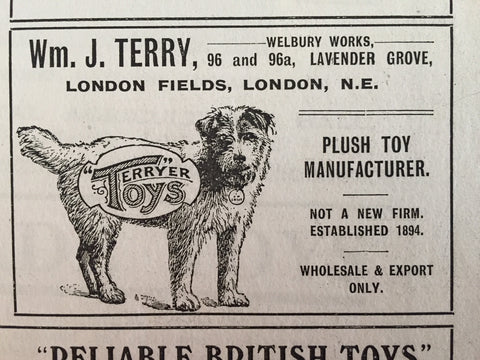 (1910) Terrier Toys. Wm J.Terry