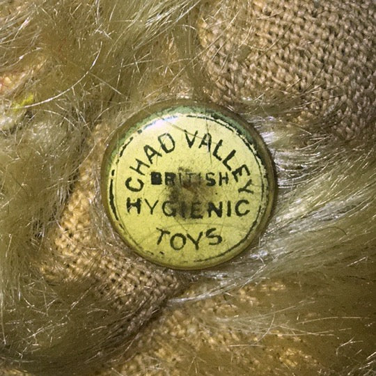 (1930) Celluloid (Blue Green or White) button. CHAD VALLEY BRITISH HYGIENIC TOYS
