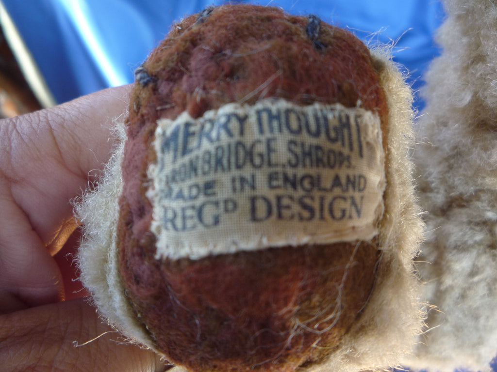 (1945 onwards) Merrythought Ironbridge Regd Design label