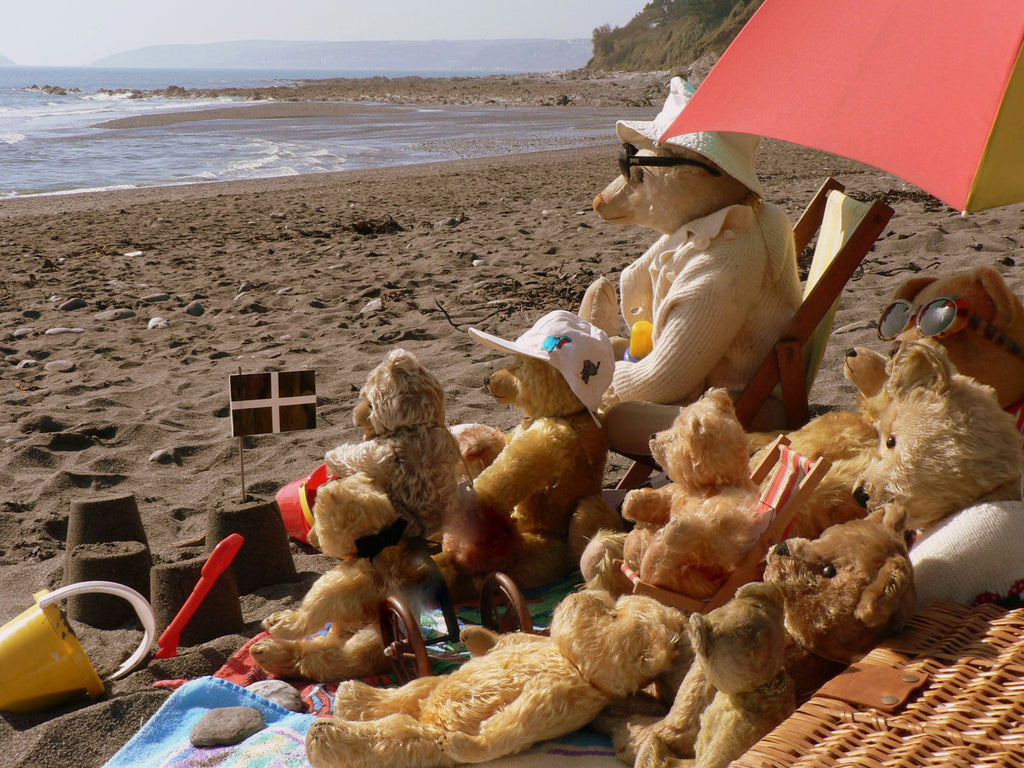 A 2nd group of bears at the seaside in Cornwall