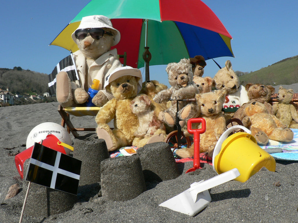 A 3rd group of bears at the seaside in Cornwall