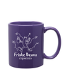 11oz Purple Ceramic C-Handle Coffee Mug with Logo