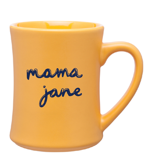 15oz Yellow Bedford Ceramic Mug with Logo
