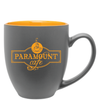15oz Matte Gray & Yellow Bistro Mug with Logo
