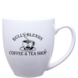 15oz White Bistro Mug with Logo