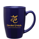 14oz Cobalt Blue Contour Mug with Logo