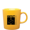 14oz Yellow Enzo Ceramic Mug with Logo