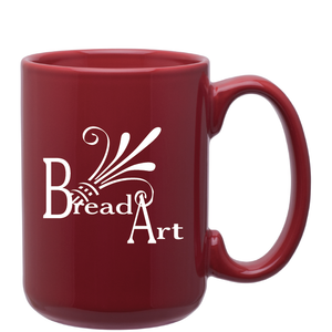 15oz Red Grande Ceramic Mug with Logo