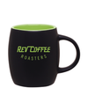 14oz Matte Black & Lime Joe Mug with Logo