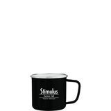 13oz Black Whitney Enamel Mug with Logo