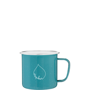 25oz Teal Whitney Enamel Mug with Logo