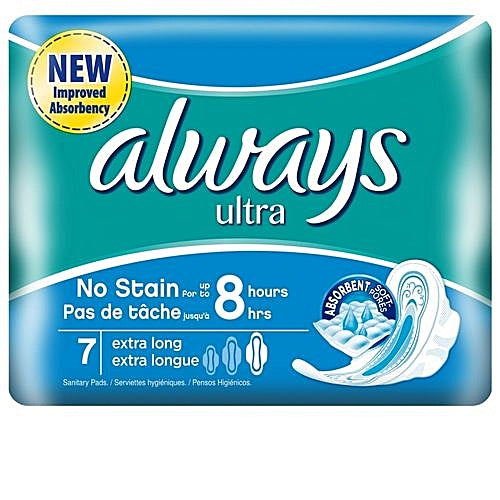 Always Ultra Sanitary Pad W/flexible Wings.