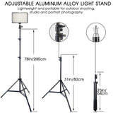 Studio Lighting TL-160S (11W CRI85 3200K/5600K) with Stand Battery
