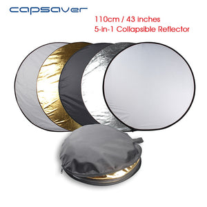 "43"" / 110 cm 5 in 1 Portable Round Collapsible Reflector"