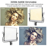 Studio Light Kit L4500 LED / Dimmable 3200K-5600K 15W CRI 95