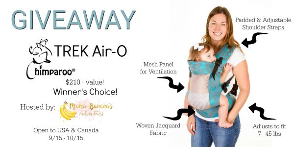 Chimparoo TREK Air-O Giveaway USA/Canada ends 10/15
