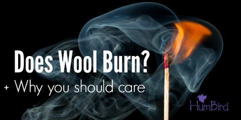 does wool burn