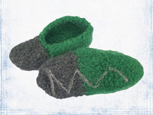 Dark green + Dark gray slipper 13.5 cm