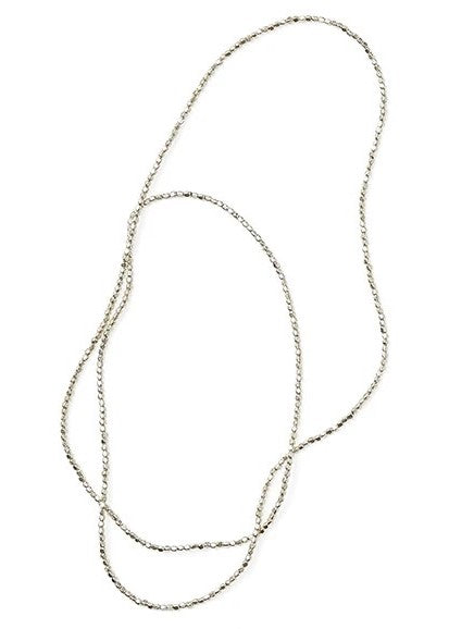 Fog Linen Work Silver Beads Necklace