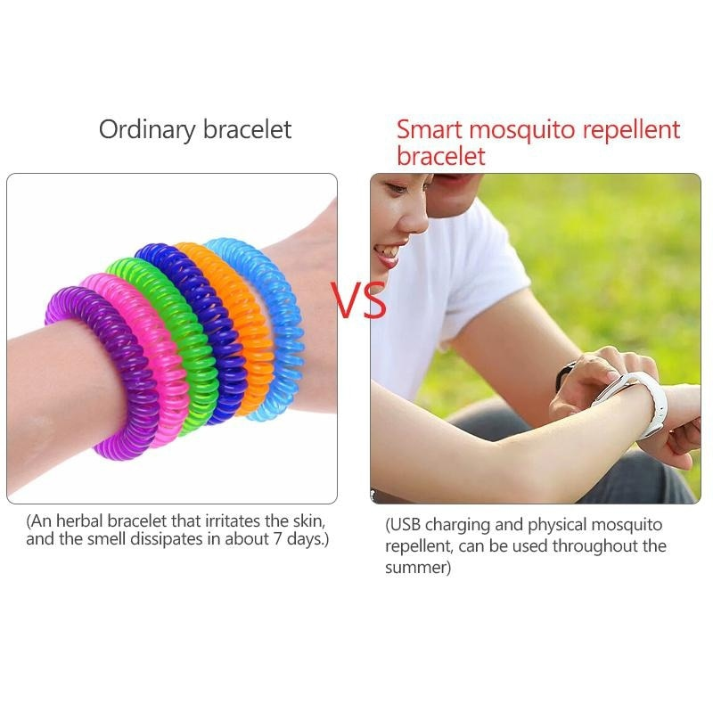 2020 NEW Ultrasonic Smart Mosquito Repellent Bracelets USB Rechargeable outdoor Anti Insect Pest Bugs Wrist watch adult CN