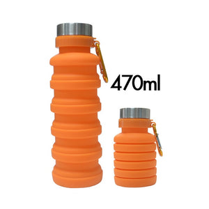 470/550ML Folding Water Bottle Portable Retractable Silicone Coffee Bottle Outdoor Travel Drinking Sport Drink Kettle 40