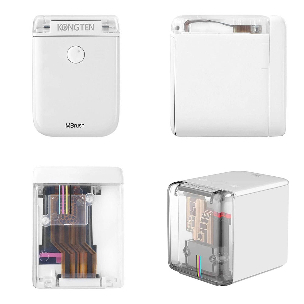 Cube Printer Bluetooth WIFI USB Connection Mini Portable Mobile Color Printer Working Time 6Hrs Print On Any Material