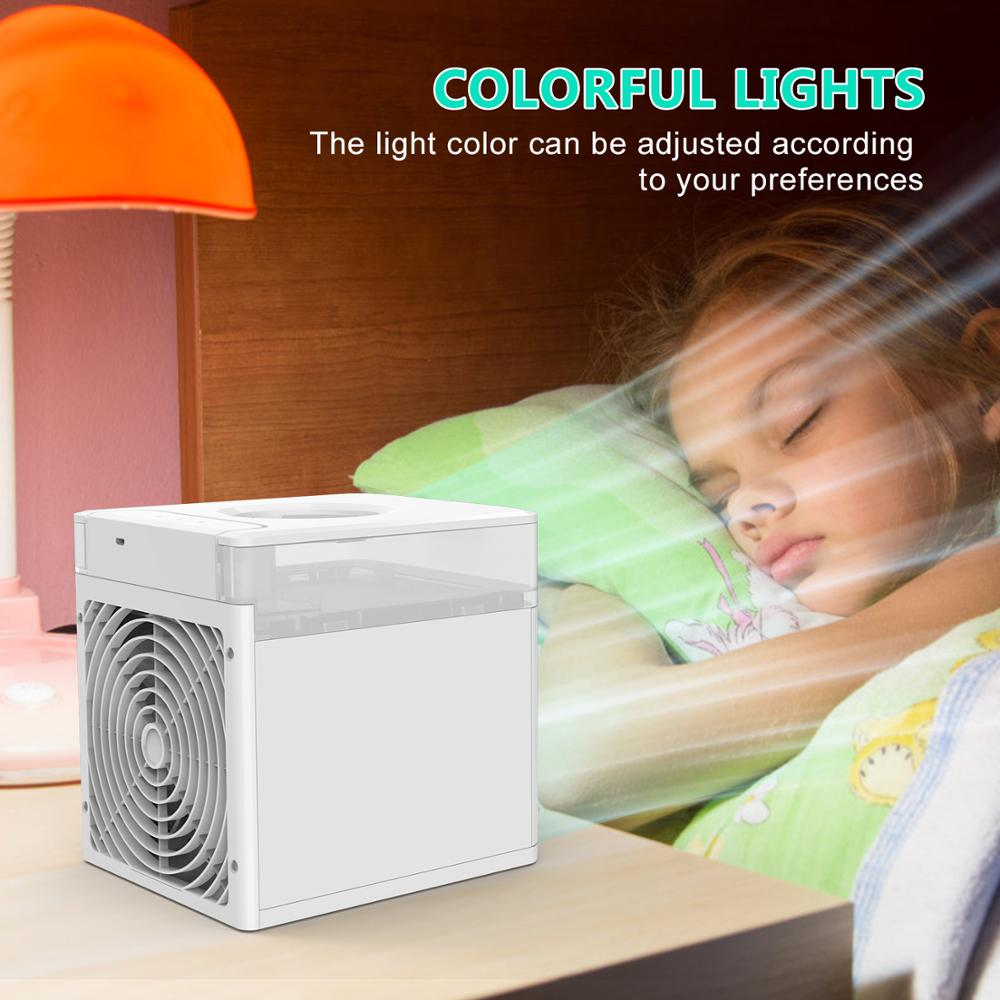 NexFan Ultra Air Cooler Fast Cooling Air Conditioner Portable Cooling Fan Oil Diffuser for Office Travel Mini Fan UV & Standard