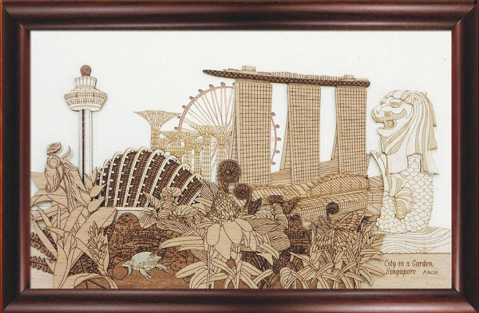 City In A Garden Frame