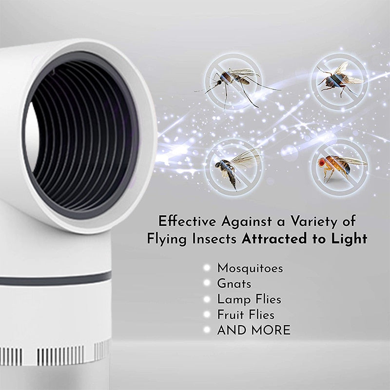 USB Electric Mosquito Killer Lamps Fly Killer Lamp Mosquito Trap Insect Killer Lamp Bug Zapper UV Night Light Pest Control