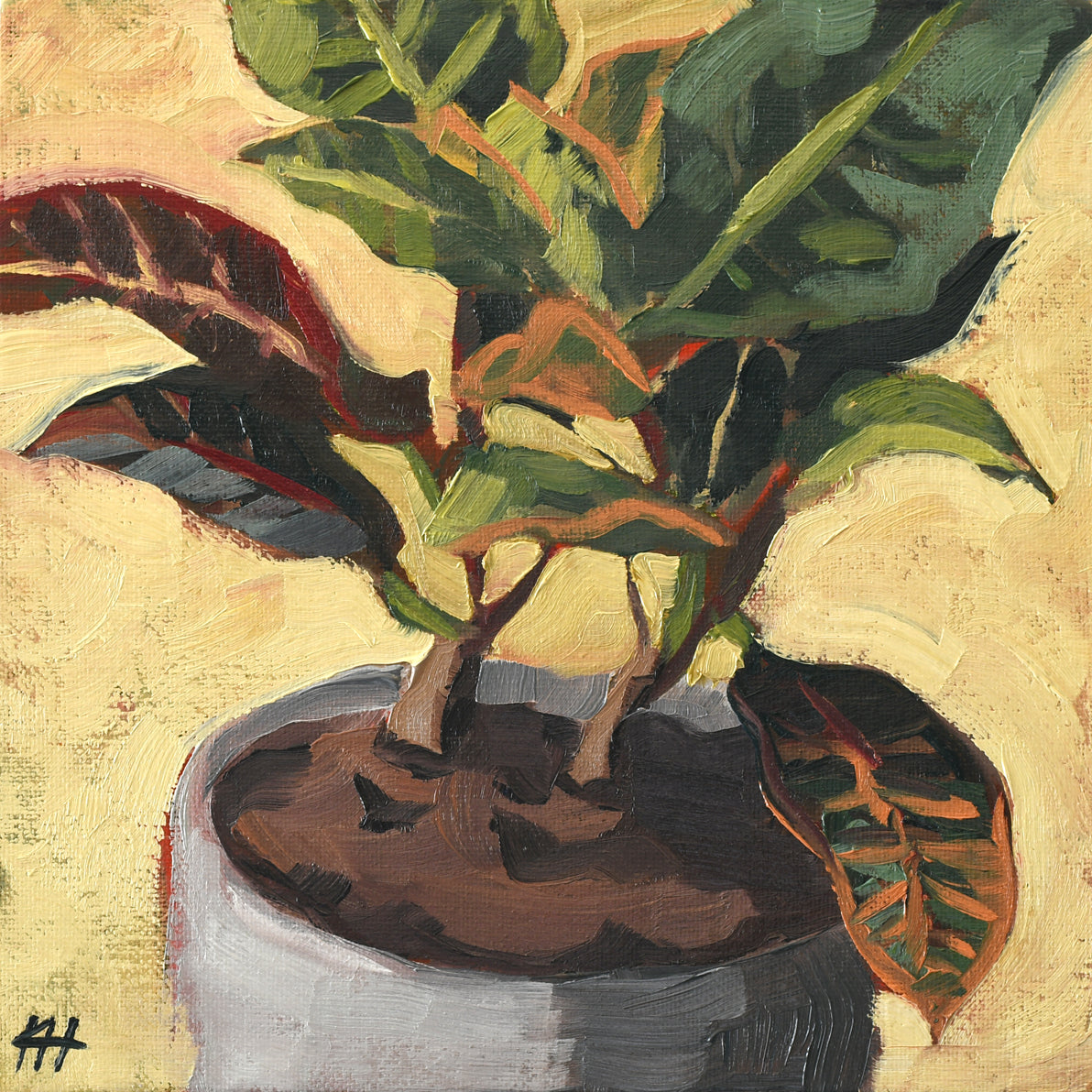 """Bonsai Jungle"", Small Wall Art, Floral Still Life"