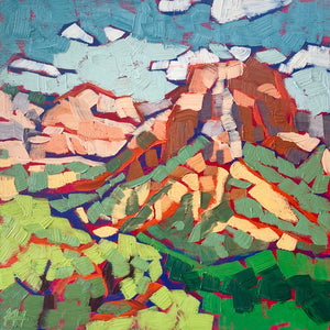 "National Park Painting, Landscape in Oil, ""Kolob Canyon Overlook"""